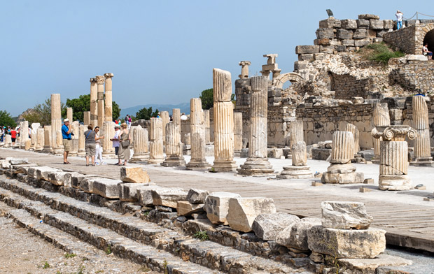 Ancient ruins at Ephesus, Turkey