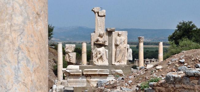 Ancient ruins at Ephesus, Turkey
