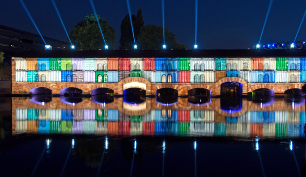 Strasbourg light show in summer