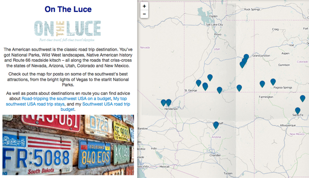 On the Luce southwest USA blog posts