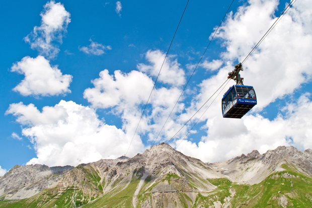 Vallugabahn cable car, St Anton Austria