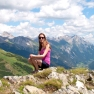 On the mountains in St Anton am Arlberg, Austrian Tyrol
