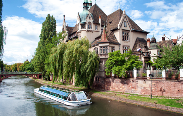 Boat trip on the canals of Strasbourg, France