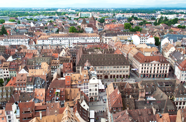 Views across Strasbourg from the cathedral