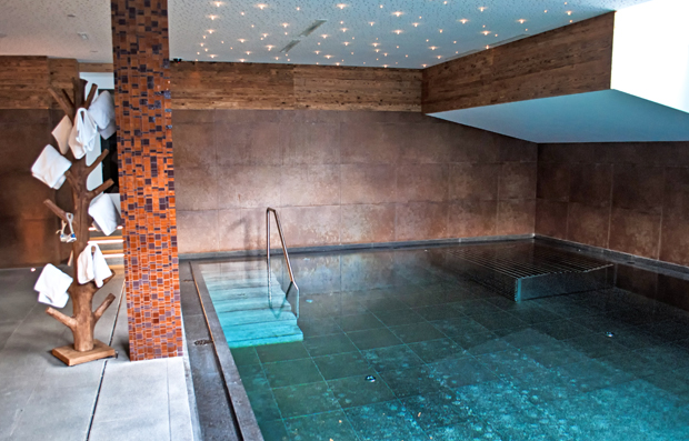 Pool at the Valluga Hotel St Anton