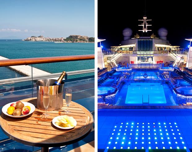 Pool and balcony on board Celebrity Equinox
