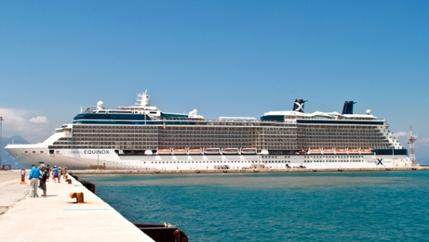 Celebrity Equinox cruise ship in Corfu, Greece