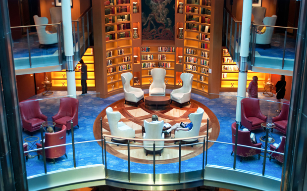 Library on the Celebrity Equinox cruise ship
