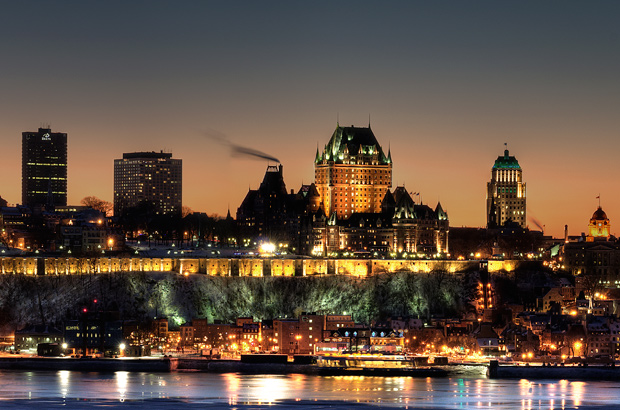 Quebec City at night, Canada