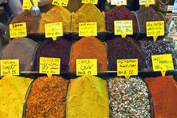Spices in the Grand Bazaar, Istanbul